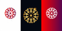 Mandala Ornament Logo Template Design