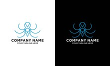 Octopus Symbol Icon Logo.