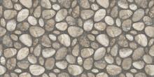 Beige Natural Stones Pattern Tiles Design For Floor, Digital Tile Surface, 3d Illustration