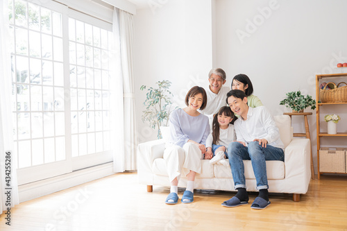 Canvas-taulu 三世代家族ファミリー