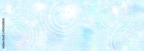 Stampa su Tela 水面の波紋と映り込む光 涼しげな背景イラスト