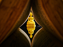 Reflection Of Buddha Through A Tunnel Of Book