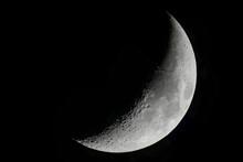 Luna Primo Quarto  Nel Cielo Notturno