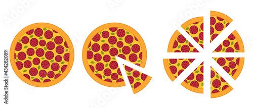 Fotografie, Obraz Slices of pizza