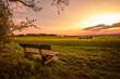 Leinwandbild Motiv Ausblick zum wunderschöner Sonnenuntergang