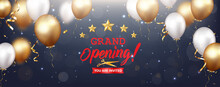 Grand Opening Design With Gold Ribbon Confetti
