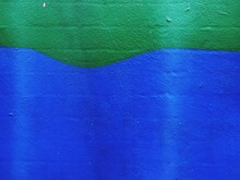 Full Frame Shot Of Green And Blue Wall