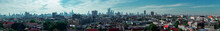 Panoramic View Of City Against Sky