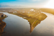 Confluence Of Two Rivers Nemunas And Neris, Kaunas Old Town, Lithuania