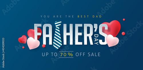 Carta da parati Happy Fathers Day Discount Banner Template