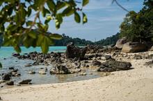 View Of A Beach At Surin Island