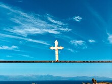 Crucifix Greece Blue Sky Great Weather