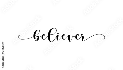 Fotografia Believer vector