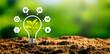 Leinwandbild Motiv Sustainable energy sources concept