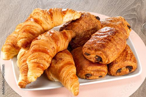 Tableau sur Toile croissant & pain chocolat