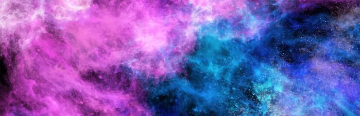 Space Abstract Galaxy art Banner. Vector design.