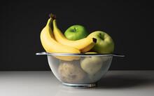 Fruit Basket On Table, Still Life