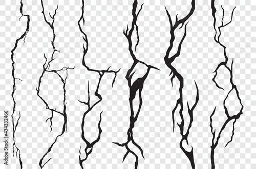 Slika na platnu Seamless cracks in the wall, plaster or ground