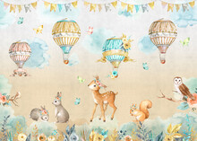 Animal Wallpaper With Balloons