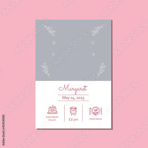 Fotografie, Obraz Pink invitation for christening