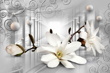 Bouquet Of Flowers Lily 3d