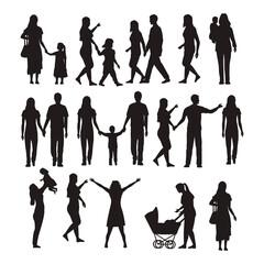 twenty two family silhouettes
