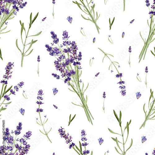 Tapety Francuskie  kwiaty-lawendy-wzor-na-bialym-tle-dlon-akwarela-rysunek-ilustracja-botaniczna-na-karte-tapete-opakowanie-zaproszenie