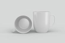White Coffee Mug For Mockup Design