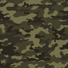 Forest Camouflage Pattern Vector Illustration, Army Pattern.