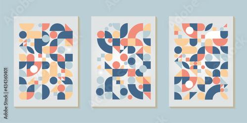 Geometric pattern design of Scandinavian abstract color background with Swiss ge Tapéta, Fotótapéta