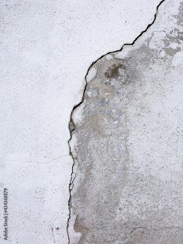 Obraz na plátně Une craquelure sur un mur en ciment