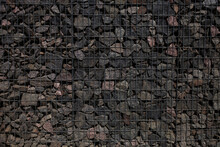 Stone Wall With Metal Grid