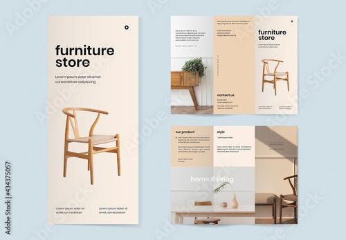 Vintage Furniture Store Brochure Template - fototapety na wymiar