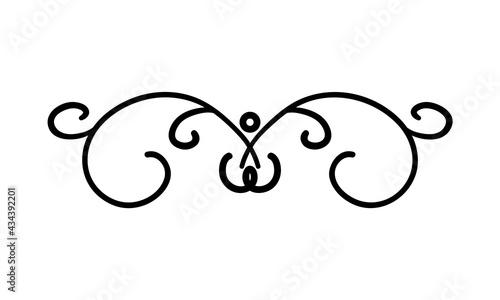 Fotografering decorative curl divider