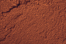 Terracotta Powder Soil Or Clay-like Texture Background