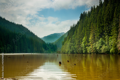 Canvas Scenic View Of Lake Against Sky