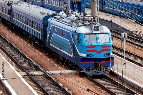 Fotografie, Obraz electric locomotive, locomotive,