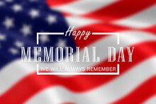 Memorial Day - Remember And Honor Poster. Usa Memorial Day Celebration. American National Holiday