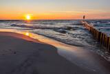Fototapeta Fototapety z morzem do Twojej sypialni - Zachód słońca Morze bałtyckie plaża Sunset Sea