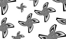 Patterns In The Style Of Op Art Reminiscent Of Fantastic Stars From Another World Creative Wallpaper For Design