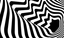 Black White Background With Volume Which Creates An Optical Illusion