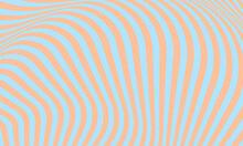 Wavy Orange Line On A Blue Background Optical Illusion Creates A Voluminous Wallpaper