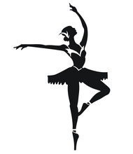 Silhouette Of A Ballet Dancer