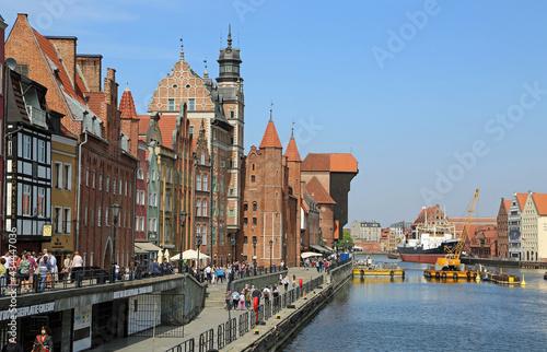 Valokuva Motlawa River Embankment and the crane - 15th century, Gdansk, Poland