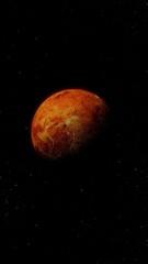 planet venus in space.
