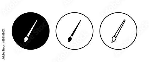 Fotografia Paint icon set. paint brush icon vector. paint roller icon vector