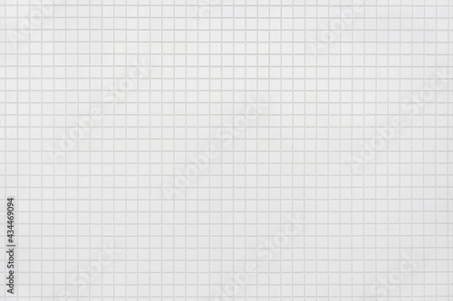White ceramic mosaic  tile background _ Wall , floor decoration texture Fototapet