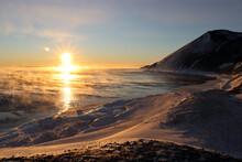 Sunset At Hut Point, Ross Island Antarctica