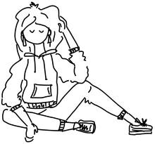 Girl Modelling A Hoodie, Casual Wear