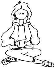 Girl Modelling A Hoodie With Hands In Pocket